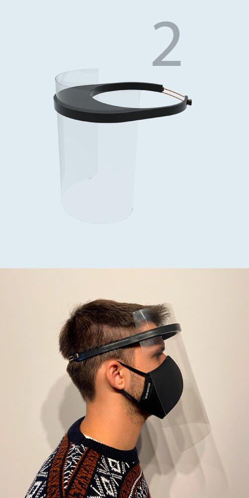 Modelo 2 - Máscara Plástico