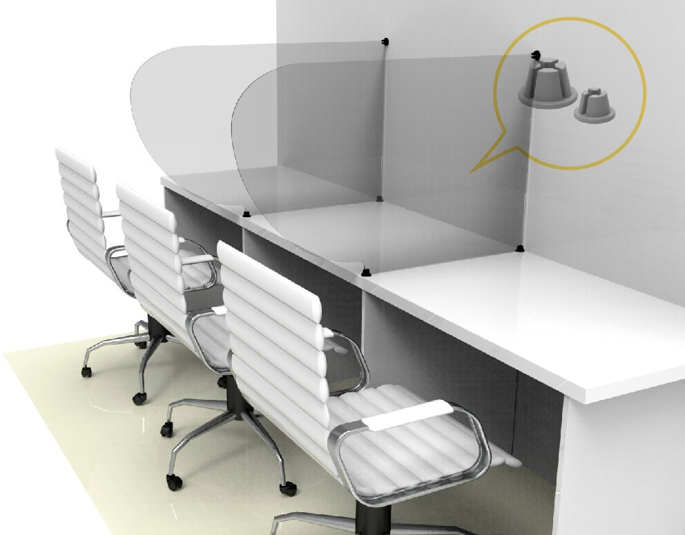 protector de mostrador linea crux - Separadores o divisores de escritorio