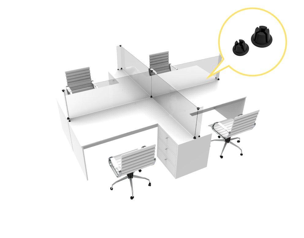 protector de mostrador linea crux - Barreras sanitarias para escritorios