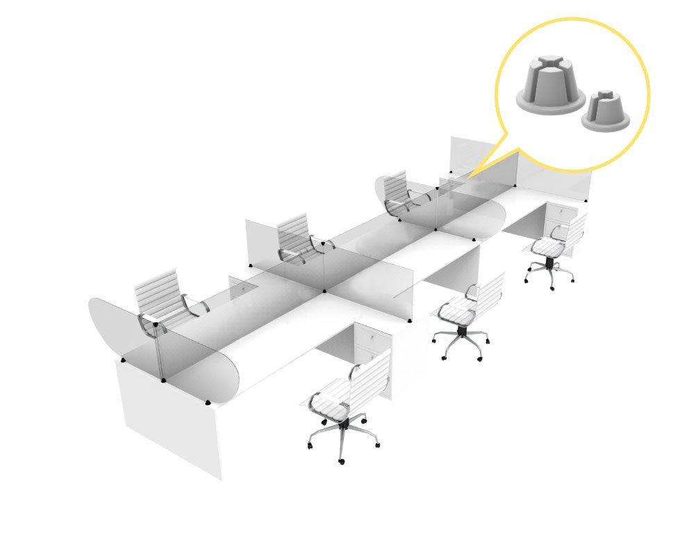 protector de mostrador linea crux - Barreras sanitarias para islas de trabajo